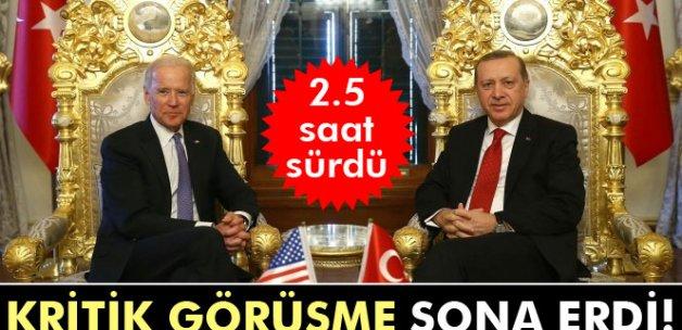 Cumhurbaşkanı Erdoğan ile Joe Biden görüşmesi sona erdi