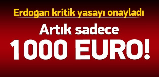 Cumhurbaşkanı Erdoğan, yasayı onayladı!