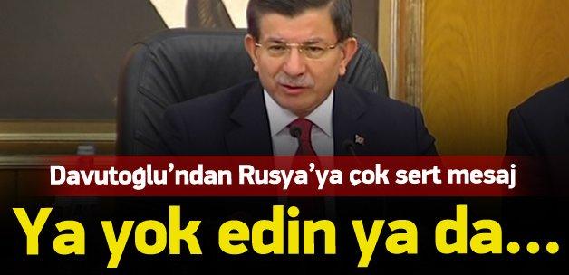 Davutoğlu'ndan Rusya'ya çok sert Suriye tepkisi!