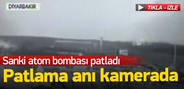 Diyarbakır'daki patlama anı kamerada!