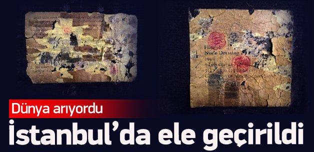 Dünya arıyordu İstanbul'da ele geçirildi