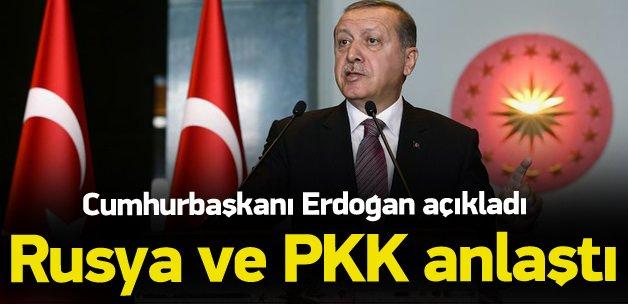 Erdoğan açıkladı! İşte Rusya'nın PKK ile işbirliği