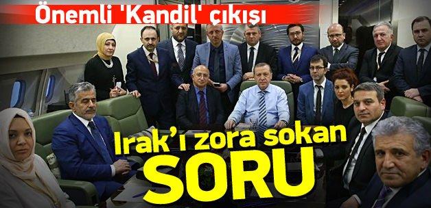 Erdoğan'dan Kandil çıkışı! Irak'a sert sözler