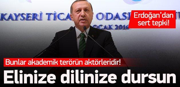 Erdoğan: Elinize dilinize dursun