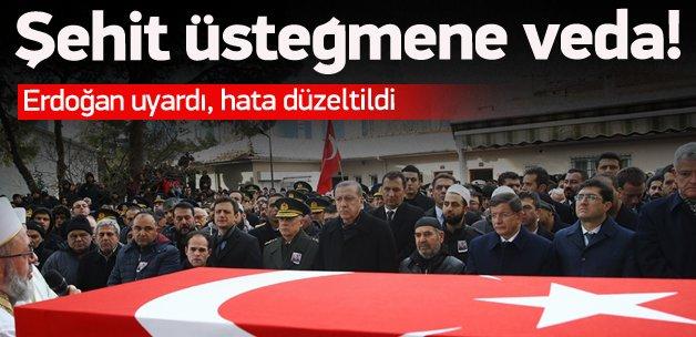 Erdoğan uyardı, hata düzeltildi
