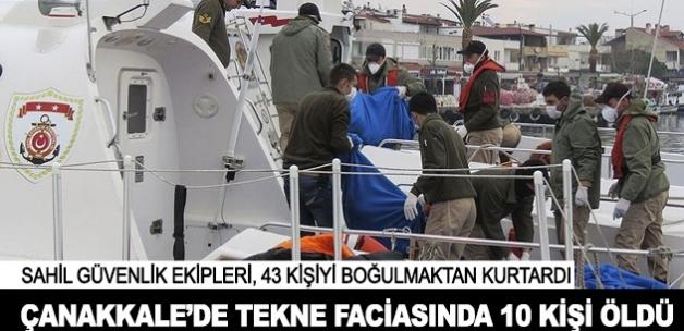 Göçmenleri taşıyan tekne battı: 5'i çocuk 10 ölü
