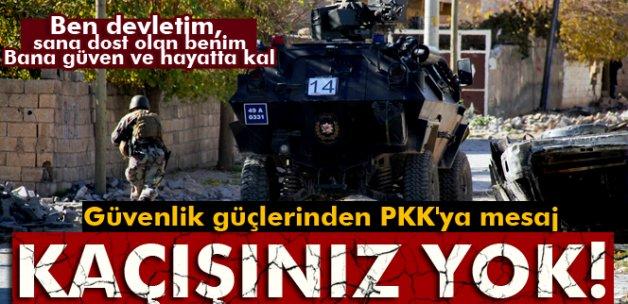 Güvenlik güçlerinden Cizre'deki PKK militanlarına 'kaçışınız yok' mesajı