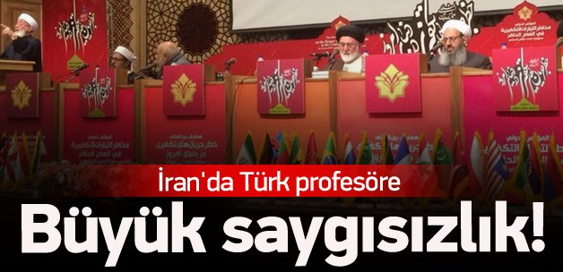 İran'da Türk profesörü konuşturmadılar
