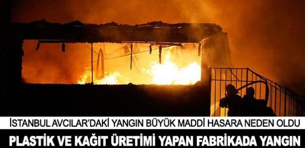 İstanbul Avcılar'da çıkan yangın söndürüldü