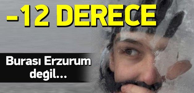 İstanbul'da -12 dereceyi gören ilçe