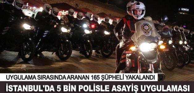 İstanbul'da 39 ilçede 165 şüpheli yakalandı