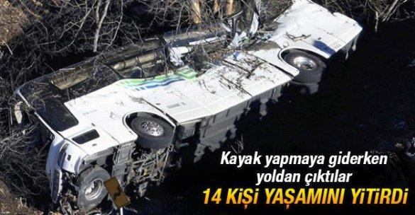 Kayak yapmaya giderken yoldan çıktılar: 14 kişi yaşamını yitirdi