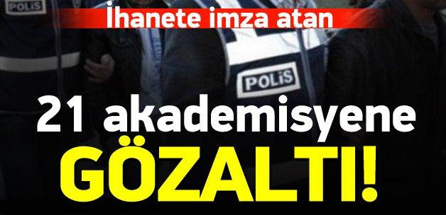 Kocaeli'nde 21 akademisyene gözaltı!