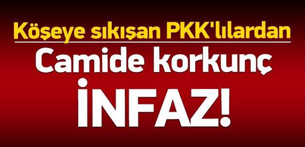 Köşeye sıkışan PKK'lılardan camide seri infaz!