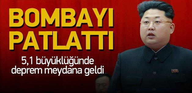 Kuzey Kore dünyaya meydan okudu bombayı test etti