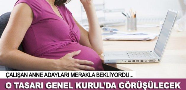 Meclis çalışan anne adaylarına yeni haklar için mesai yapacak