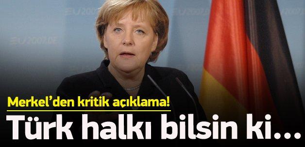 Merkel'den yeni 'Türkiye' açıklaması