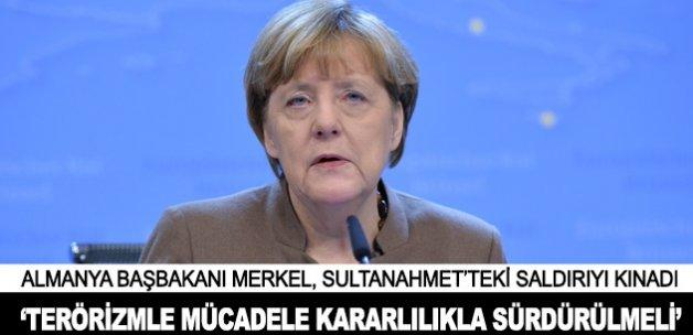Merkel: Terörizmle mücadele kararlılıkla sürdürülmeli