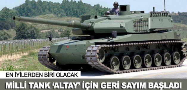 """Milli tank """"ALTAY"""" için geri sayım"""