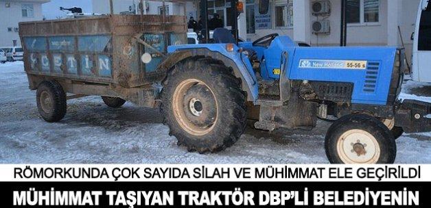 Mühimmat taşıyan traktör DBP'li belediyeye ait olduğu belirlendi