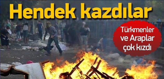 Musul ve Kerkük'te de hendek kazıyorlar!