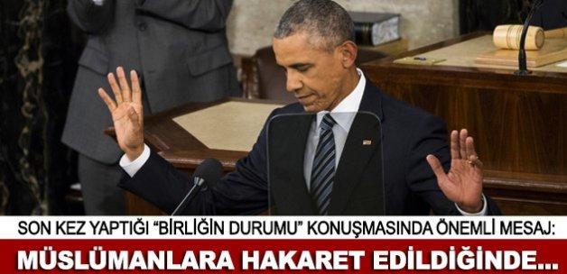 """Obama son kez """"Birliğin Durumu"""" konuşmasını yaptı"""