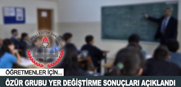Öğretmenlerin özür grubu atama sonuçları açıklandı