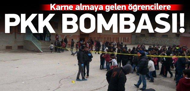 Okula bomba atıldı: 5 öğrenci yaralı!