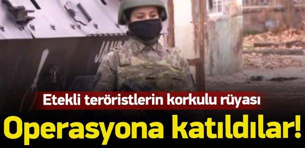 Operasyonlara kadın askerler de destek veriyor