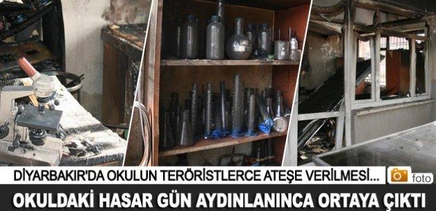 PKK'lı teröristlerce yakılan okuldaki tahribat ortaya çıktı