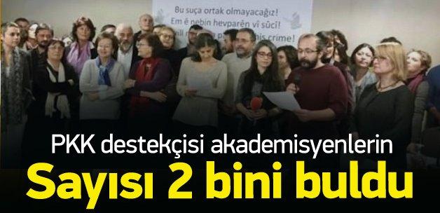 PKK sever akademisyenlerin sayısı 2 bine çıktı