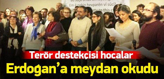 PKK yanlısı hocalar Erdoğan'a meydan okudu