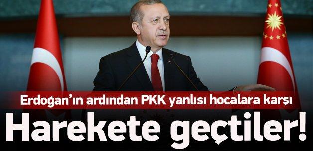 PKK yanlısı hocalara karşı harekete geçtiler!