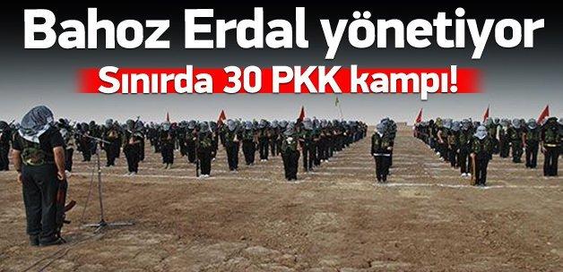 PYD bölgesinde 30 PKK kampı!