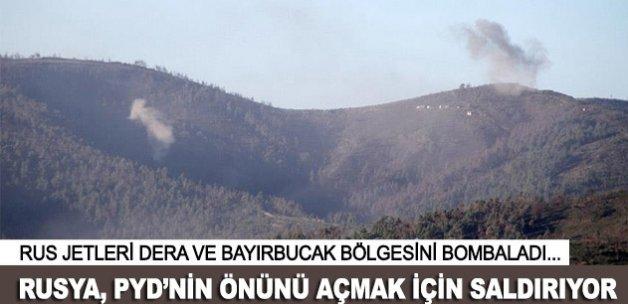 Rus jetleri Dera ve Bayırbucak'ta muhaliflere saldırdı