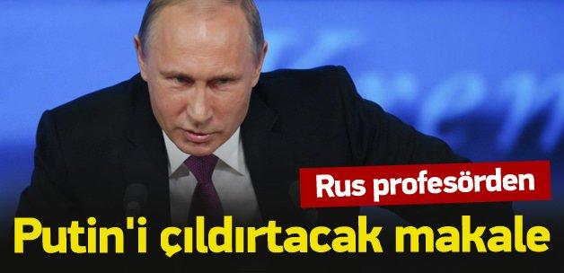 Rus profesörden Putin'i çıldırtacak makale