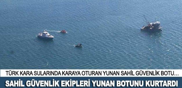 Sahil Güvenlik ekipleri Yunan botunu kurtardı