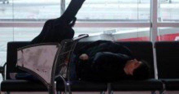 Seferler iptal olunca Atatürk Havalimanı otele döndü