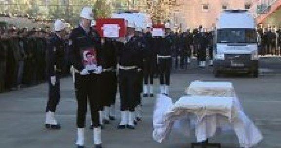 Şehit polis memuru ve kızı için tören!