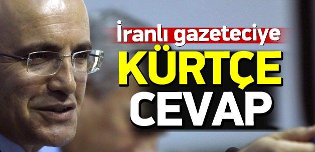 Şimşek'ten İranlı gazeteciye Kürtçe cevap