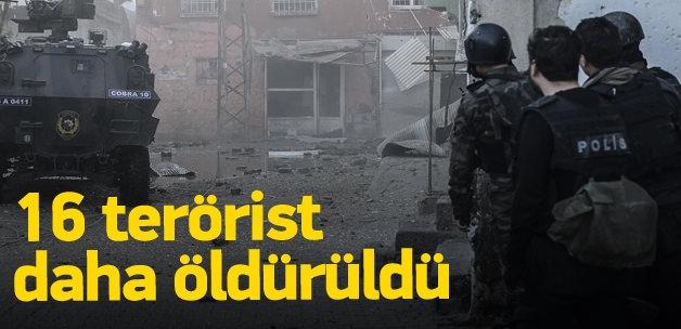 Şırnak ve Diyarbakır'da 16 terörist öldürüldü