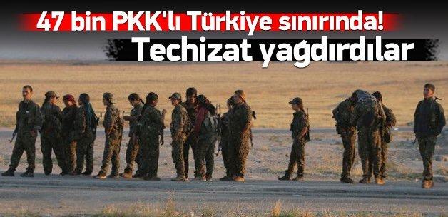 Şok: 47 bin PKK'lı Türkiye sınırında!