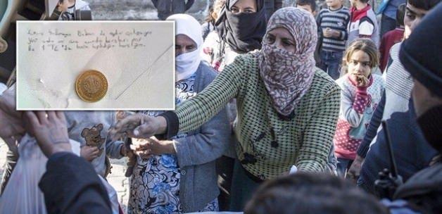 Sur'a bir lira gönderdi: Herkesi ağlattı!