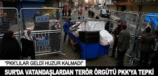 Sur'da vatandaşlardan terör örtütü PKK'ya tepki