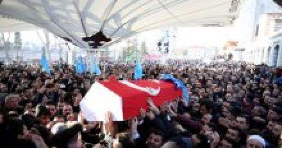 Suriye'de ölen MHP'li başkan yardımcısı toprağa verildi