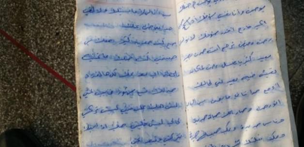 Suriyeli genç kızın sevdiğine mektubu