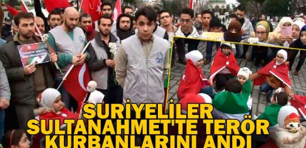 Suriyeliler Sultanahmet'te terör kurbanlarını andı
