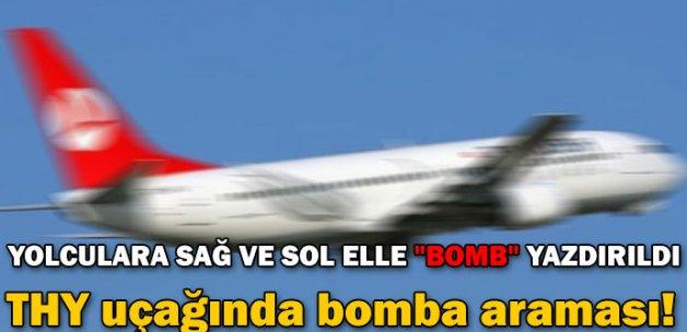 THY uçağında bomba araması