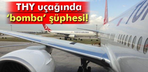 THY uçağında bomba şüphesi