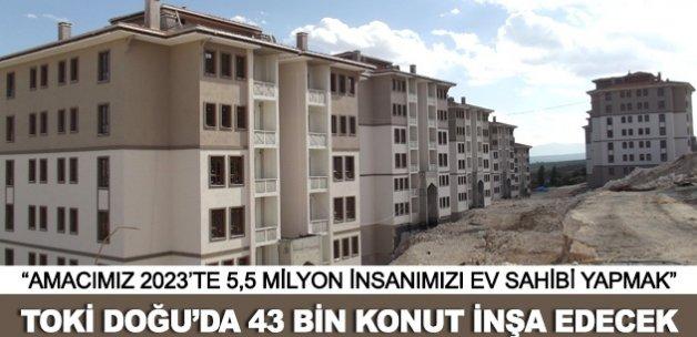 TOKİ Doğu ve Güneydoğu Anadolu'ya 43 bin konut inşa edecek